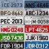 Início de placas de veículos por estado