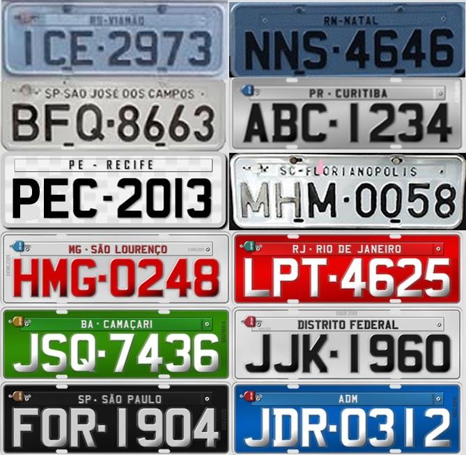 Placas de carro por Estado - Como saber de onde veio sua placa