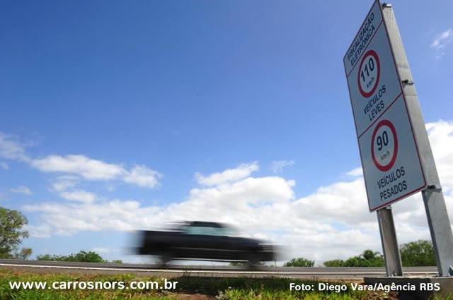 Aumento de velocidade máxima permitida em rodovias do RS