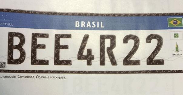Novas placas para carros no Brasil a partir de 2016