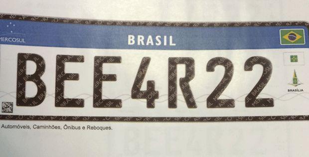 Nova placa carros Brasil / Imagem por Denatran