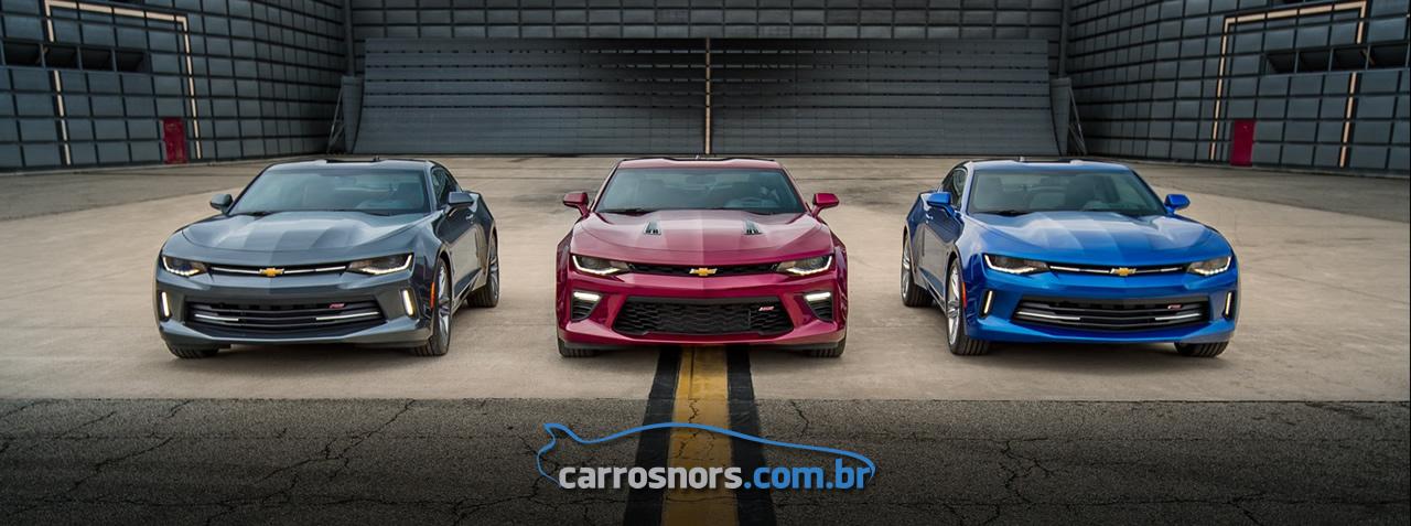 Novo Camaro 2016 geração 6 - Versões