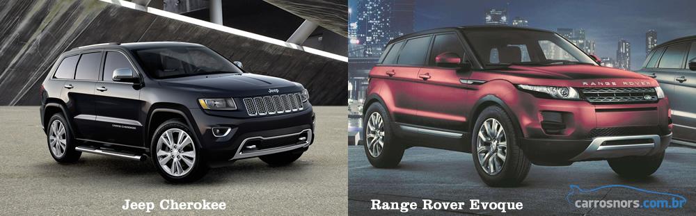 Fiat Toro comparativo com Evoque e Jeep